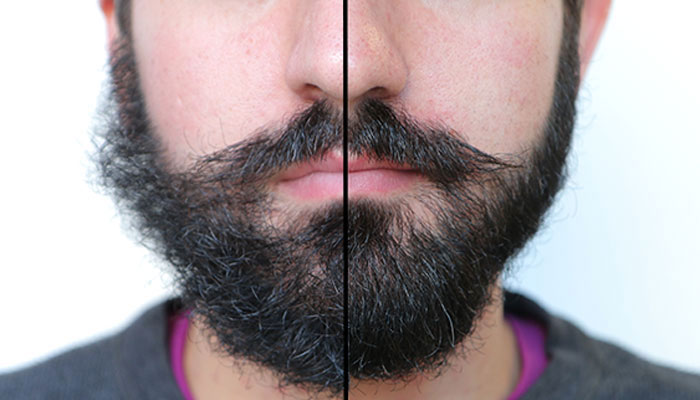 Beard Oil Before and After