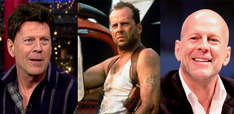 Bruce Willis Hair Throughout the Years - Shaving His Head