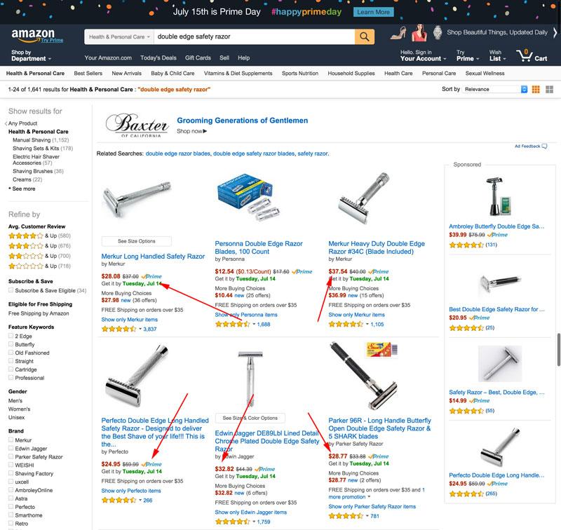 average price double edge safety razor