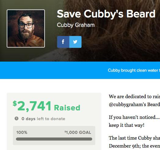 shaving beard for charity